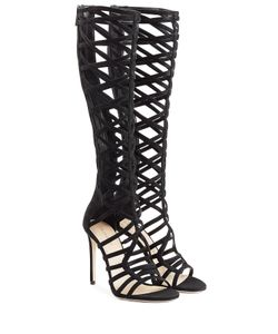 TAMARA MELLON | Suede Cutout Sandals Gr. It 37
