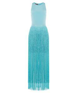 TAMARA MELLON | Silk Dress With Fringed Skirt Gr. Us 6