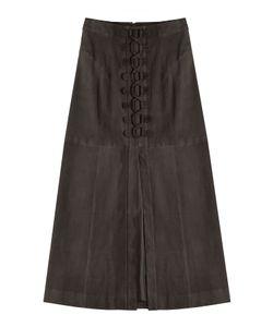 TAMARA MELLON | Laced Suede Skirt Gr. Us 4