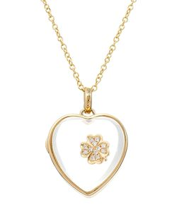 Loquet | 14kt Heart Locket With 18kt Charm And Diamonds Gr. One