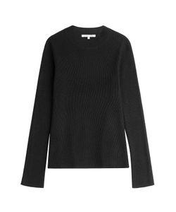 Helmut Lang | Cashmere-Linen Ribbed Pullover Gr. Xs