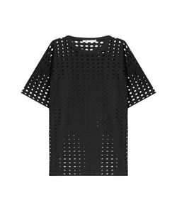 T By Alexander Wang | Short Sleeve Top With Cut-Out Detail Gr. L