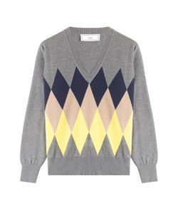 Ami   Wool Diamond Knit Pullover Gr. S