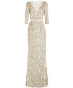 Jenny Packham | Floor Length Embellished Silk Dress Gr. Uk 16