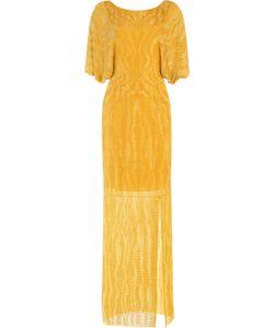 Jenny Packham   Bead And Sequin Embellished Floor Length Silk Gown Gr. Uk 10