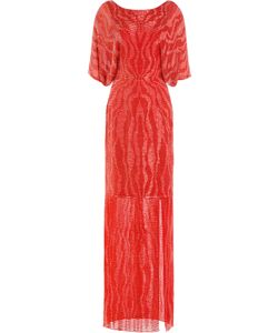 Jenny Packham | Bead And Sequin Embellished Floor Length Silk Gown Gr. Uk 12