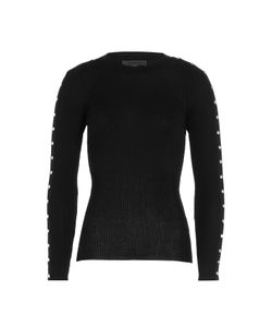 Alexander Wang | Cotton Ribbed Longsleeve Top With Studs Gr. L