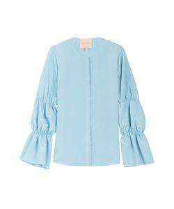 Roksanda Ilincic | Silk Top With Gathered Sleeves Gr. Uk 8