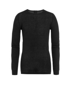 Rick Owens | Long Sleeved Cotton Top With Cashmere Gr. L