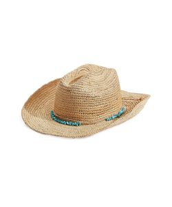 Melissa Odabash | Raffia Hat With Beaded Band Gr. One