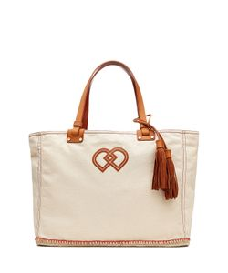 Dsquared2 | Cotton Tote With Leather Gr. One