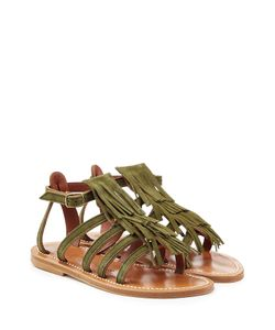 K. Jacques | Suede Sandals With Fringe Gr. It 38
