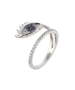 Delfina Delettrez | 18kt Ring With Diamonds And Sapphires Gr. One