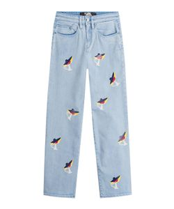 Karl Lagerfeld | Cropped Jeans With Choupette Print Gr. 26