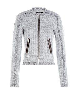 Karl Lagerfeld | Cotton Blend Fringe Knit Blazer Gr. It 44