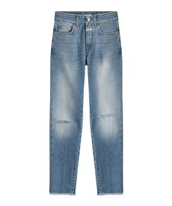 Closed | Distressed Straight Leg Jeans Gr. 26
