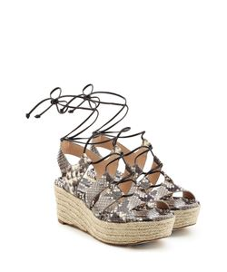 Michael Michael Kors | Embossed Leather Laced Sandals Gr. Us 6