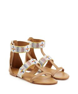 Christophe Sauvat | Embellished Leather Sandals Gr. Eu 38
