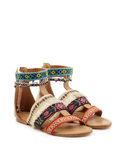 Christophe Sauvat | Embellished Leather Sandals Gr. Eu 36