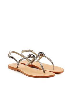Mystique | Embellished Leather Sandals Gr. Fr 41