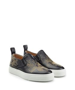 Chloe | Embellished Leather Slip-On Sneakers Gr. It 38