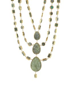 PIPPA SMALL | Plated Necklace With Chrysocolla Stones Gr. One
