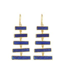 PIPPA SMALL | Plated Earrings With Lapis Gr. One