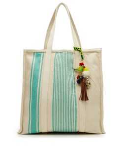 Star Mela | Robyn Cotton Tote With Embellished Keychain Gr. One