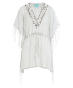 Taj | Embellished Cotton Fringe Tunic Gr. M