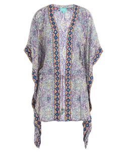 Taj | Printed Silk Kaftan With Beaded Trim Gr. L