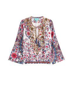 Taj | Embellished Printed Silk Top Gr. M