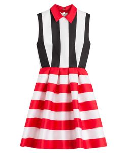 Zuhair Murad | Striped Dress With Silk Gr. It 42