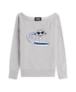 Karl Lagerfeld | Choupette On The Beach Cotton Sweatshirt Gr. Xs