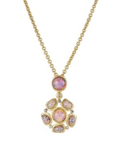 Kenneth Jay Lane | Opalescent Pendant Necklace With Crystal Embellishment Gr. One