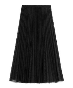 Valentino | Pleated Silk Skirt With Lace Gr. It 42