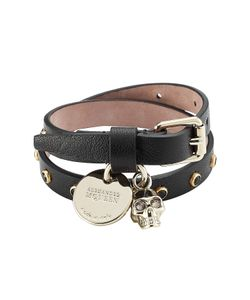 Alexander McQueen | Embellished Leather Wrap Bracelet Gr. One
