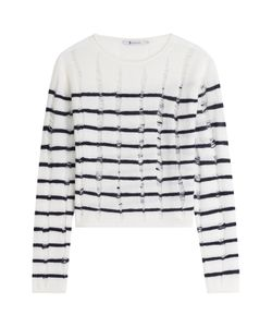 T By Alexander Wang | Striped Wool Pullover Gr. Xs