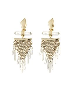 Alexis Bittar | Dangling Rock Crystal Mesh Clip Earring Gr. One