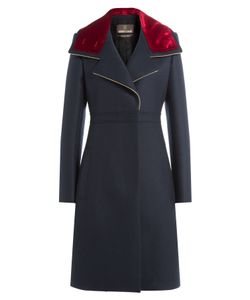 Roberto Cavalli | Wool Coat With Velvet Gr. It 42