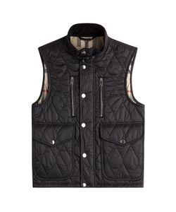 Burberry London | Quilted Vest With Check Lining Gr. M