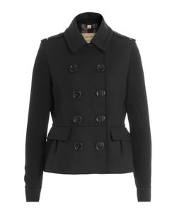 Burberry Brit | Wool Jacket With Contrast Sleeves Gr. Uk 6