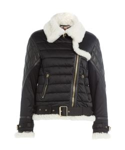 Burberry Brit | Quilted Jacket With Faux Shearling Collar Gr. Xs