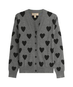 Burberry Brit | Heart Print Merino Wool Cardigan Gr. L