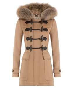 Burberry Brit | Blackwell Wool Duffle Coat With Fur Gr. Uk 10