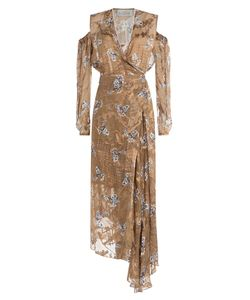 Preen | Printed Dress With Cut-Out Shoulders And Embellishment Gr. M