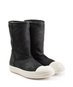 Rick Owens | Coated Leather Ankle Boots Gr. Eu 44