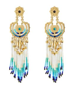 GAS BIJOUX | Apache Small 24kt Plated Chandelier Earrings Gr. One