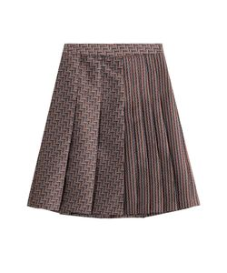 Diane Von Furstenberg | Woven Skirt With Pleats Gr. Us 10