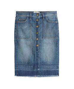 Current/Elliott   Button Front Jean Skirt Gr. 30