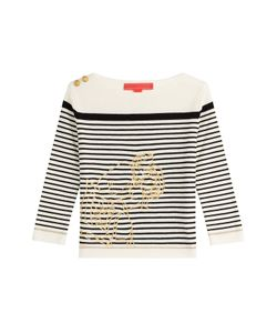 Hilfiger Collection | Striped Wool Embroidered Pullover Gr. M
